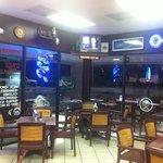 Dining area at Casa Di Pizza