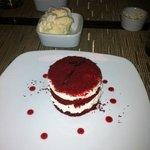 red velvet cheesecake desert