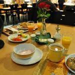 朝食の食堂