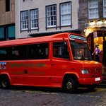 Hairy Coo Bus At  Deacon's House Cafe