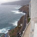 Vista de la costa en dirección norte
