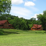 Sunrise Ridge & Eagle's Nest Cabins can sleep 8 guests each with a full kitchen and gas fireplac