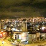 Vista de la ciudad desde el restaurante