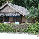 Cabin 1 is on the perimeter of the resort, facing the beach