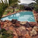 Exotic swimming pool..