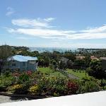 View from Casa Bella veranda across Prickly Bay