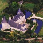 aerial view with moats