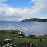 Rainbow over Nahuel Huapi.