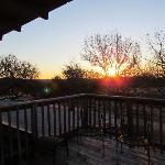 Sunrise off of the bedroom deck.  Beautiful!