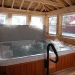 Relaxing hot tub!