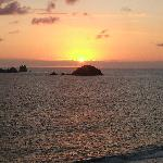 Sunset from our Dorado Pacifico room