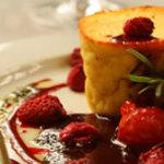 A delicious dessert at Ecucina
