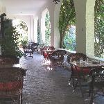 The Galleries where you relax in the shade or have a meal