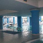 Uno scorcio delle piscine con acqua di mare