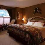 Royal Suite, master bedroom has king bed