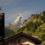 The Matterhorn as seen from patio