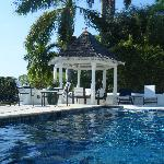 View from pool gazebo