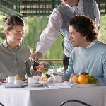 GHS breakfast terrace