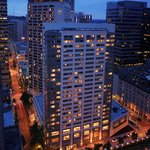 Night Time At The Sheraton Seattle Hotel