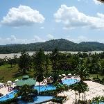 Pool and Chagres River from Resort Bar Veranda