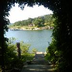 Archway leading down to the dock