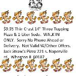 Walk in Pizza Special