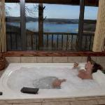 Large jacuzzis in every cabin
