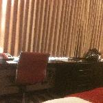 workspace in the hotel room
