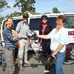 Delivering Bikes to Vitners Retreat.