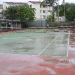 Full size tennis  court