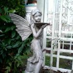 one of many statuettes on the property