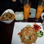 Curry et riz frit