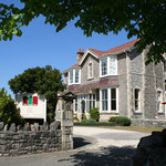 The front of our sea front B&B at Oak and Glass