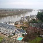 View of the hotel from Chateau d'Amboise in winter