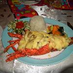 Birthday meal - Lobster cooked by Katana our personal chef
