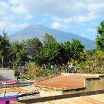 view from our room - Mt. Meru