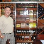 Great selection of wines and cigars