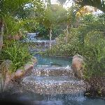 Waterfall outside our room