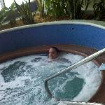Invigorating spa - it is very difficult to leave its warm, massaging comfort
