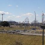 View from room - Cowboys Stadium and Six Flags Amusement Park