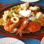 grilled mixed seafoods
