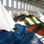 colorful dirt piles