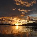 Sunset over the Blue Lagoon