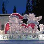 Ice Sculpture at nearby North Pole