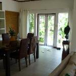 Baan Orchid dining room and front door