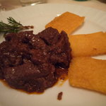wild boar w/ friend polenta