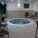 Take a dip in our heated indoor pool and whirlpool.  Open 6a - 10p daily
