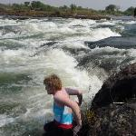 Carefully entering the Zambezi River from Livingston Island