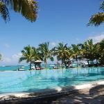 The pool overlooking the Indian Ocean
