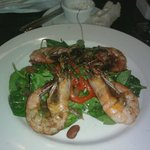 Seared Shrimp Salad with Red Bean Vinaigrette